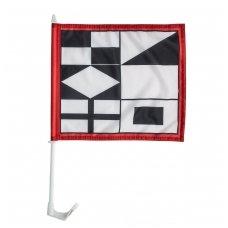 Neringos miesto automobilinė vėliavėlė su koteliu