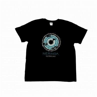 Tiesaus kirpimo marškinėliai (juodi)